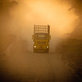 MAN truck on dirt road, White River - copyright Wright Photographic