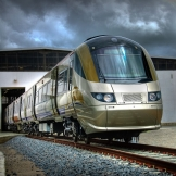 Gautrain exiting maintenance shed - copyright Wright Photographic