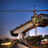 Gautrain bridge construction - copyright Wright Photographic