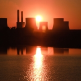 Power station at sunset - copyright Wright Photographic