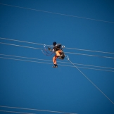 Fixing power lines, Mid Rand - copyright Wright Photographic