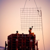 Construction at sunset - copyright Wright Photographic