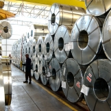 Lifting stainless steel rolls - copyright Wright Photographic