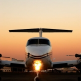 King Air at sunset, Lanseria - copyright Wright Photographic